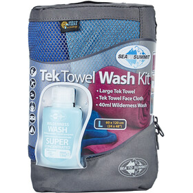 Sea to Summit Tek Towel Wash Kit L, cobalt/pacific